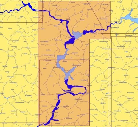 Карта C-MAP  Волга. Чебоксары-Балаково