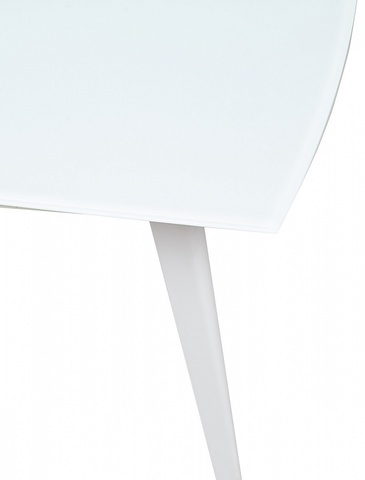 Стол ELIOT 120 Frosted Super White glass+White М-City