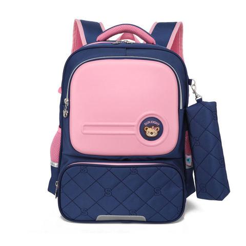 Рюкзак школьный Sun Eight 2694 синий с розовым