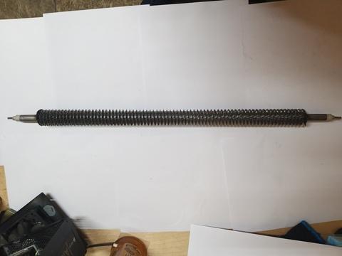 ТЭН оребренный воздушный 2,0 кВт прямой