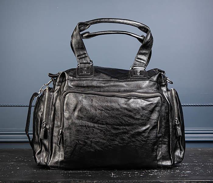 BAG547 Большая кожаная сумка для вещей с длинными ручками фото 06