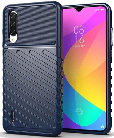 Чехол для Xiaomi Mi 9 Lite (A3 Lite, CC9) цвет Blue (синий), серия Onyx от Caseport
