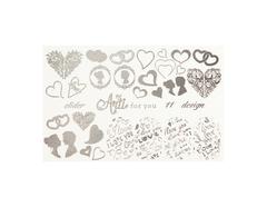 Фольга для дизайна ногтей цвет серебро 11