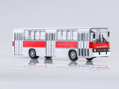 Ikarus-260 city red-white Soviet Bus (SOVA) 1:43