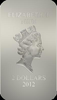 2 доллара. Икона Святая Троица. Андрей Рублев. Ниуэ. 2012 год