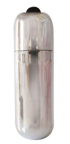 Серебристая вибропуля Erowoman-Eroman - 5,5 см.