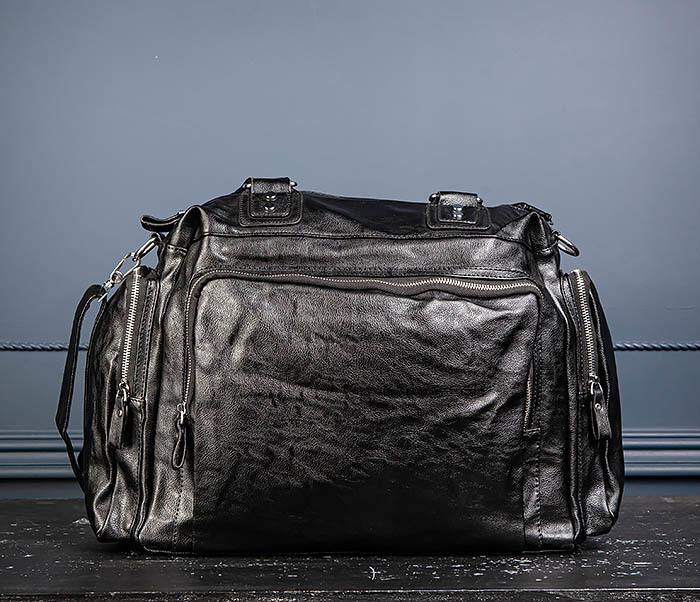 BAG547 Большая кожаная сумка для вещей с длинными ручками фото 07