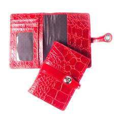 Обложка для паспорта Grand из натуральной кожи красного цвета (02-012-3251)