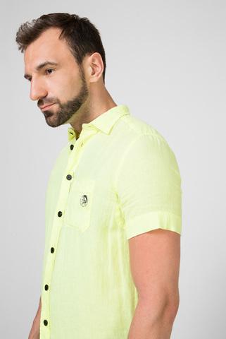 Мужская желтая льняная рубашка S-kiruma Diesel
