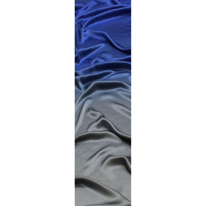 Шелковый шарф батик Сине-серебряный