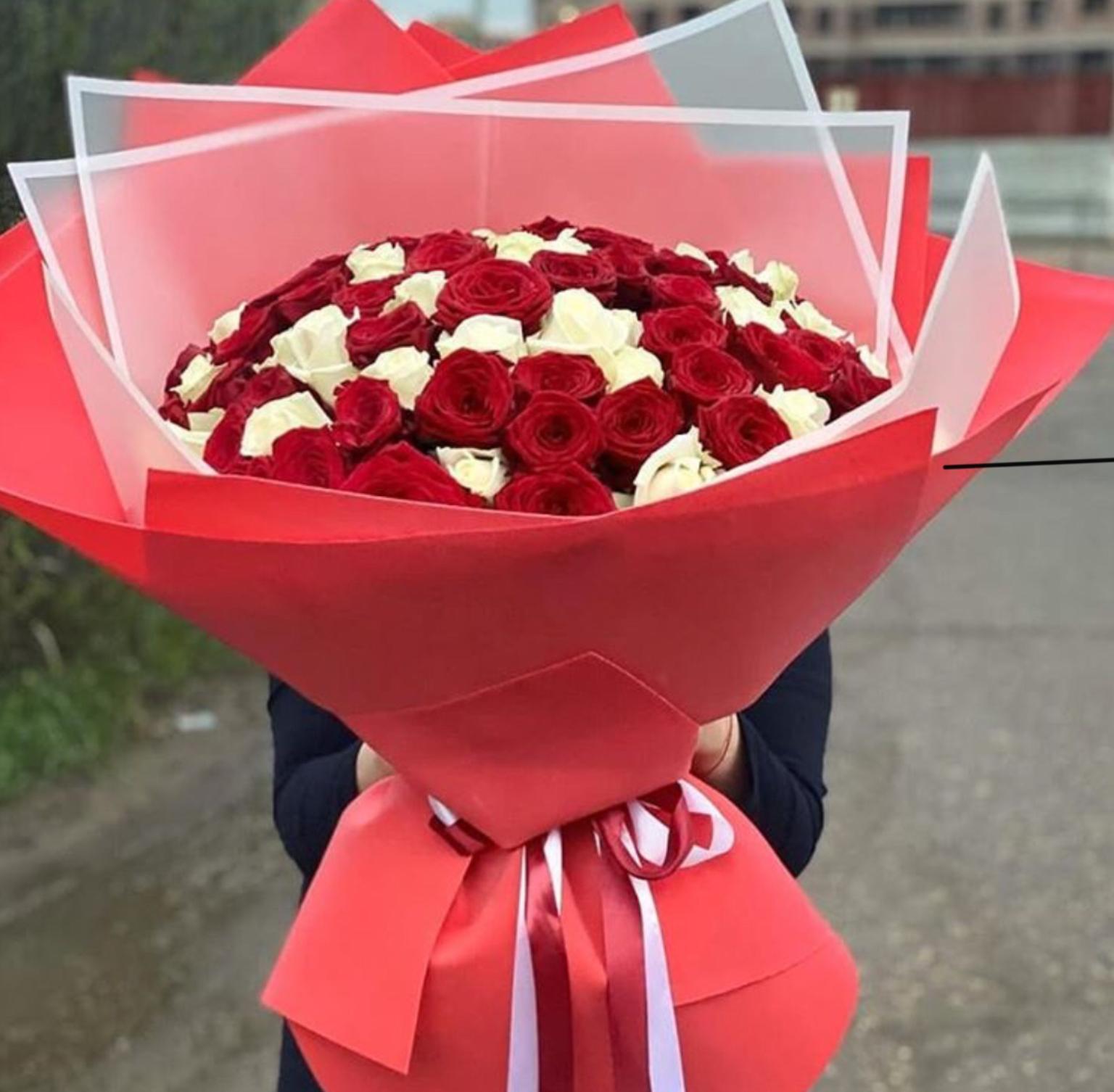 Букет 101 Роза (Б-8)