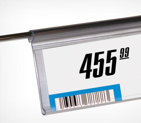 Держатель ценника на край корзины DRA 39TR-1000 (прозрачн)