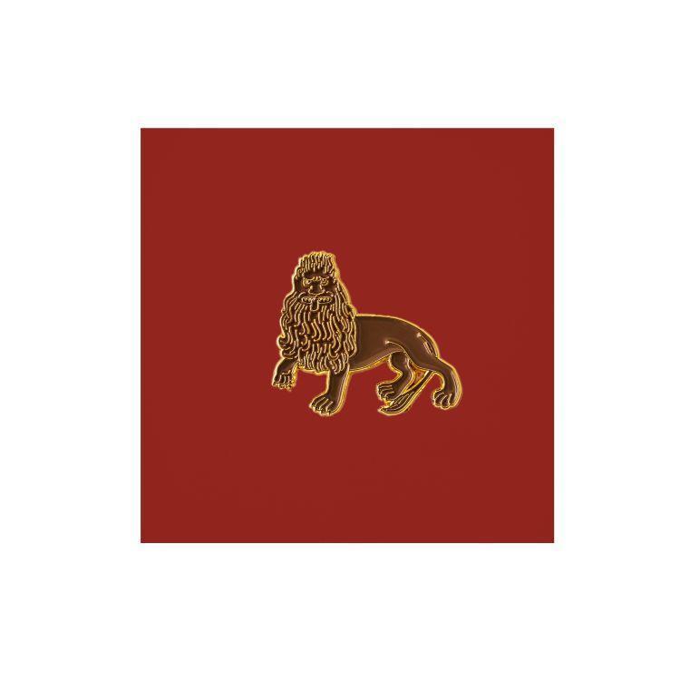 Значок металлический Лев средневековье