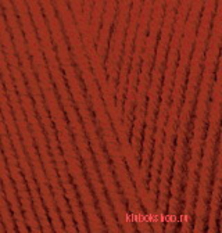 Пряжа Lanagold FINE (Alize) 36 терракот, фото