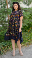 Адажио літо. Святкова сукня великих розмірів. Синій.