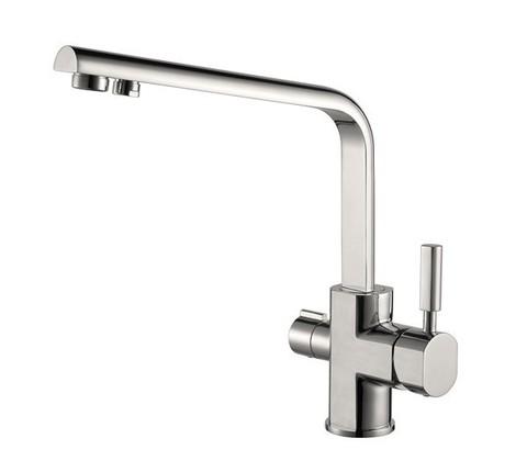 Смеситель KAISER Decor 40144-5 серебро для кухни под фильтр