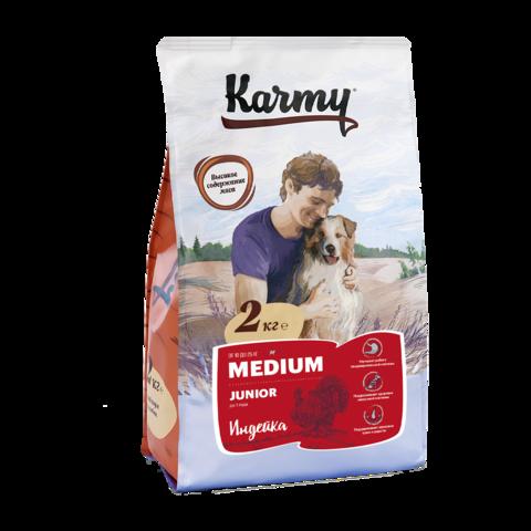 Karmy Medium Junior Сухой корм для щенков средних пород с индейкой