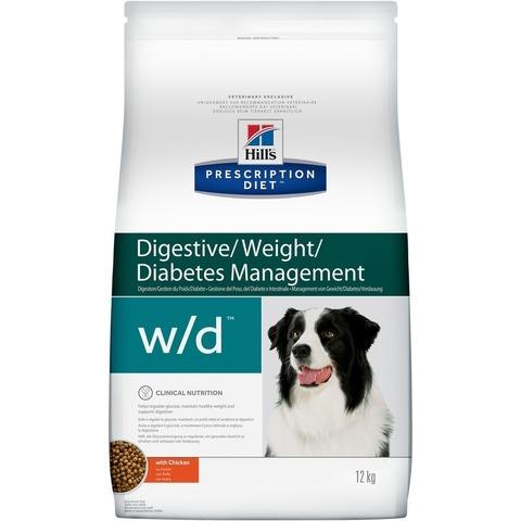 Hill's Prescription Diet w/d Digestive/Weight Management сухой корм для собак, 1,5кг