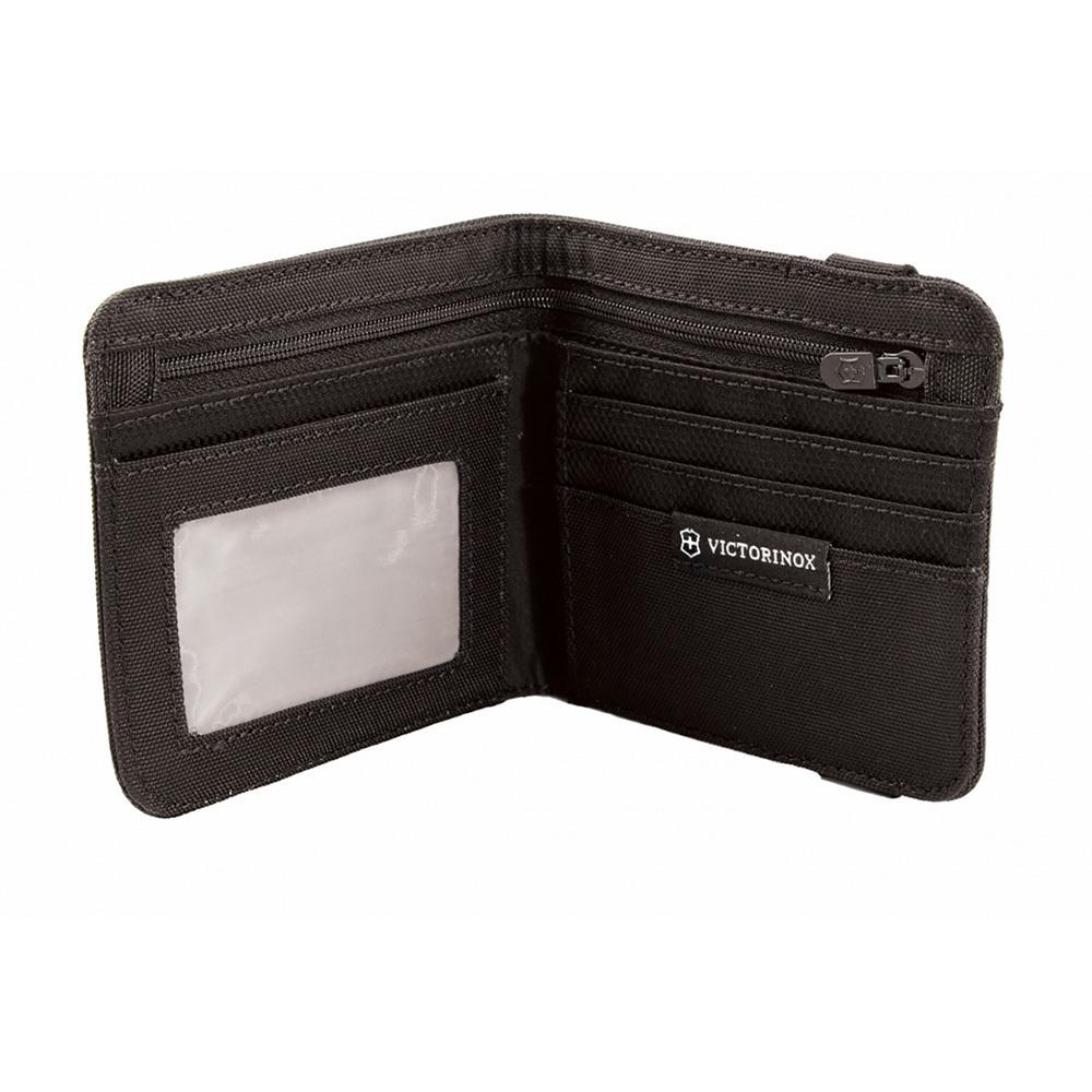 Бумажник Victorinox Bi-Fold Wallet, цвет чёрный, нейлон 800D, 11x10x1 см. (31172501)