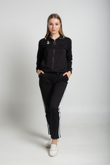 Спортивный костюм черного цвета с полосами магазин