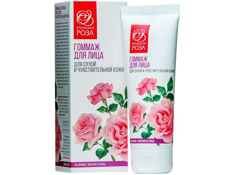 Гоммаж для лица для сухой и чувствительной кожи / Крымская роза, 75 мл