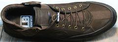 Туфли кроссовки весна осень мужские Luciano Bellini 71748 Brown