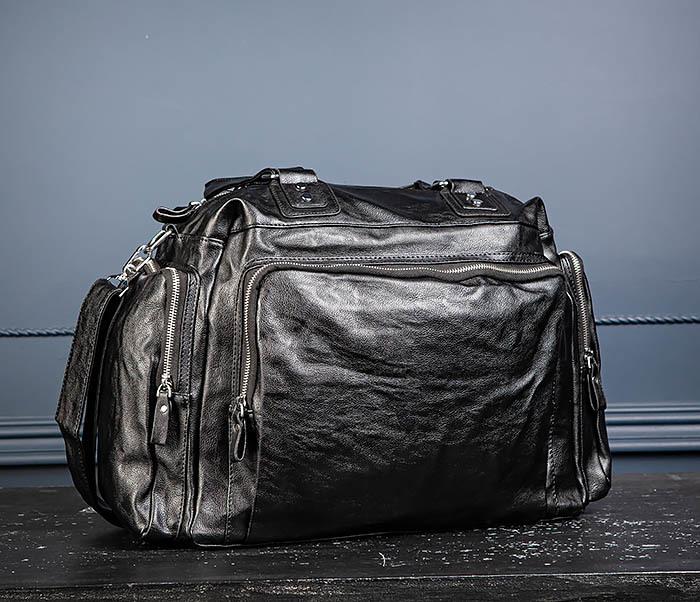 BAG547 Большая кожаная сумка для вещей с длинными ручками фото 08