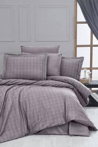 Комплект постельного белья DO&CO Сатин  жаккард  EXCLUSIVE 200*220 (50*70/2) (70*70/2) 250TC DARCELL цвет лиловый