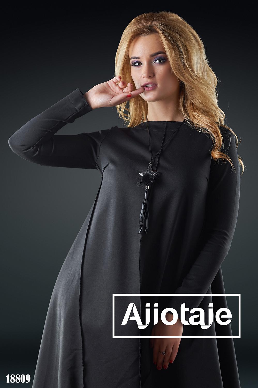 Асимметричное платье с вырезом c-neck