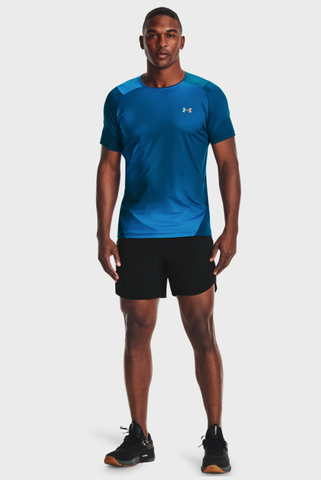 Мужская синяя футболка UA HG Rush 2.0 Print SS-BLU Under Armour