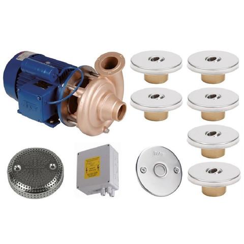 Гидромассаж Fitstar Standard 8697220 (220 В, 1.5 Квт) компл: насос, блок упр., 6 форсунки, 1 водозабор, пьезокнопка / 24303