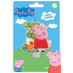 Свеча цифра №3_Peppa Pig