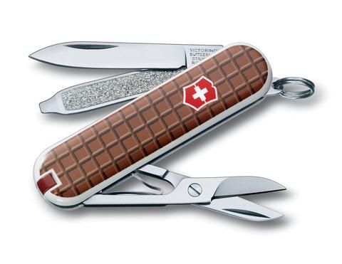 Нож-брелок VICTORINOX Classic 58 мм 7 функций рукоять с дизайном
