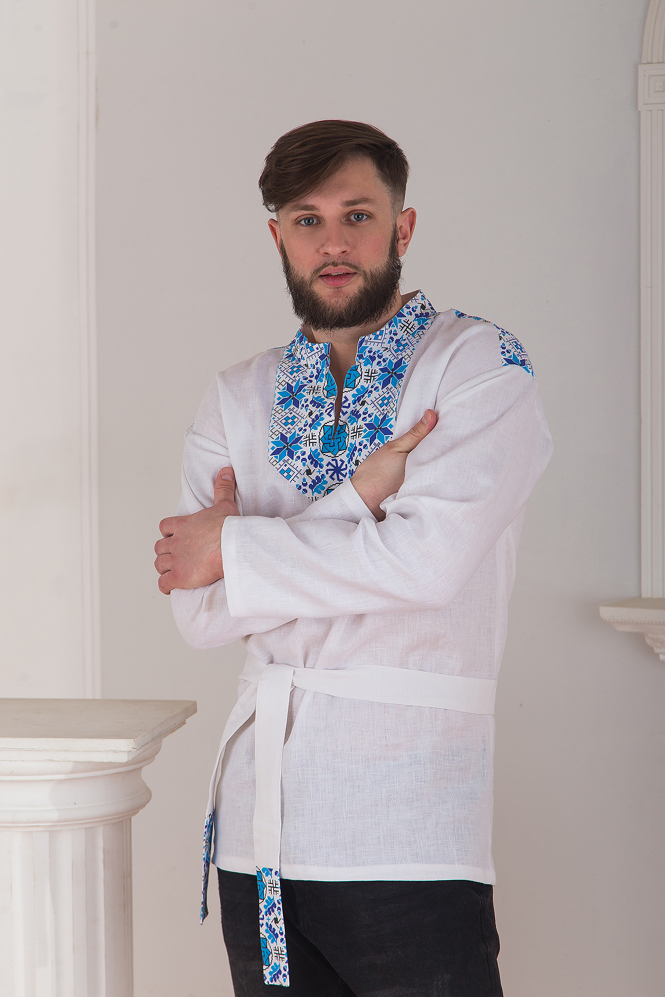 Русская рубаха Северная с кокеткой