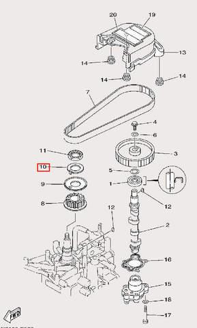 Шайба фиксирующая для лодочного мотора F9,9 Sea-PRO (8-10)