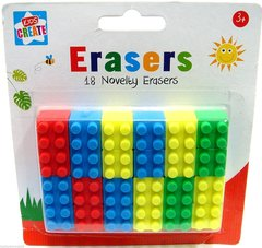 Novelty Erasers-pozan Lego Rubbers 18 School Rubbers Kids Erasers Brick Block Type