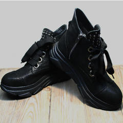 Сникерсы ботинки женские осень Rifellini Rovigo 525 Black.