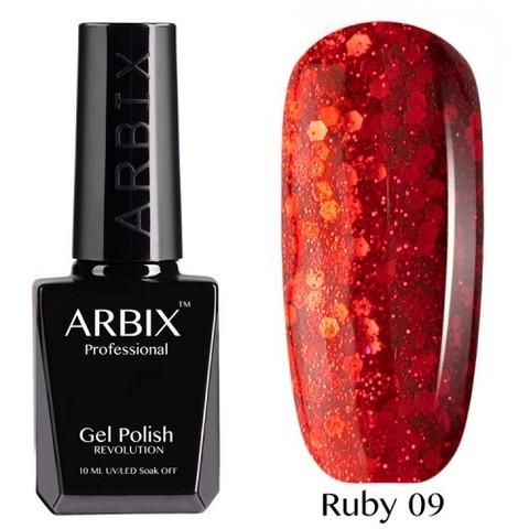 Гель-лак Arbix Ruby Огненный Рассвет  №009