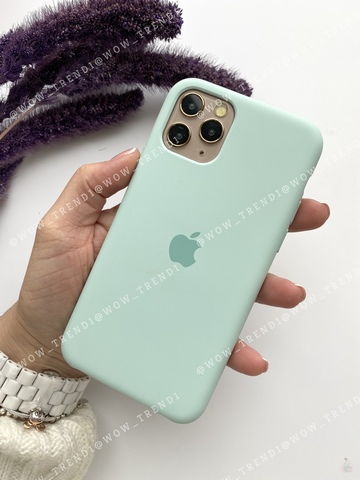 Чехол iPhone 11 Pro Silicone Case /beryl/ голубой берилл original quality