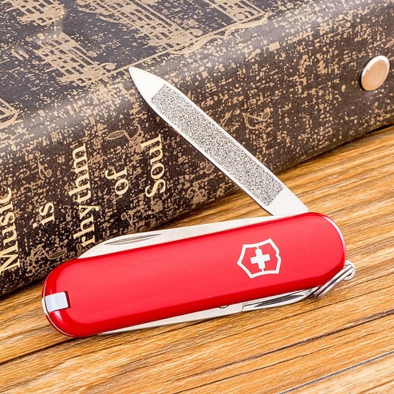Нож-брелок Victorinox Classic (0.6203) 7 функций, 58 мм. в сложенном виде | Wenger-Victorinox.Ru