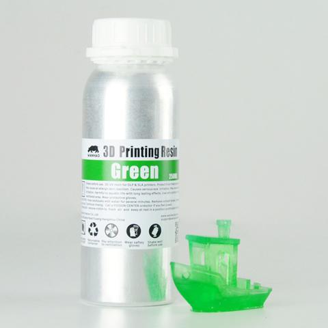 Фотополимер Wanhao Standard Resin, зелёный (250 мл)