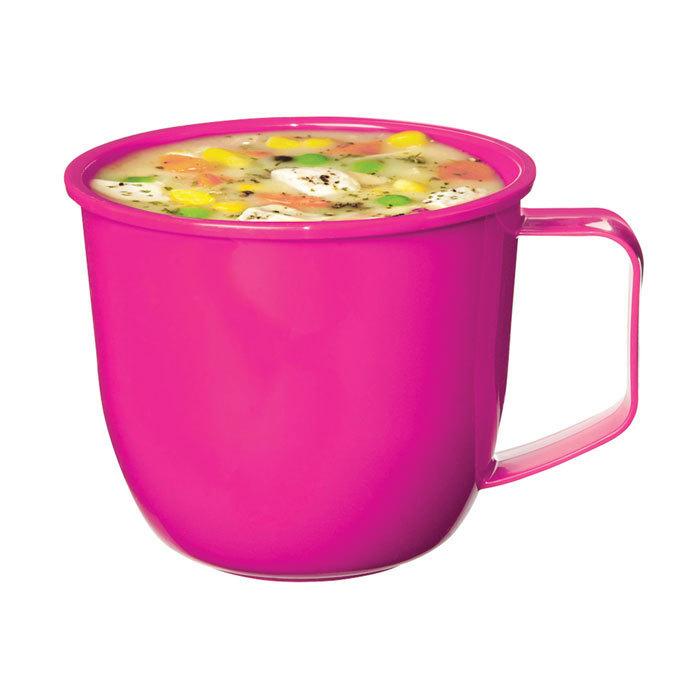 """Кружка суповая для СВЧ Sistema """"Microwave"""" 565 мл, цвет Розовый"""