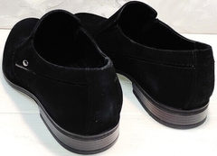Свадебные туфли мужские черные Ikoc 3410-7 Black Suede.