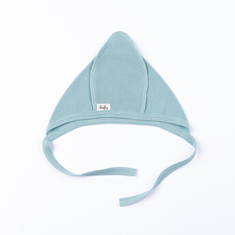 Ribbed baby hat 0+, Sea Blue