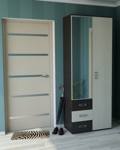 Шкаф Белла 2-х дверный венге