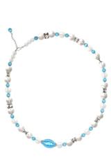 Ожерелье Onda del mare цвет голубой