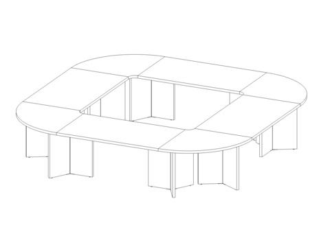 Стол овальный 3600*3600 мм (Lava/Terra)