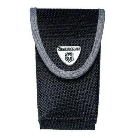 Нейлоновый чехол для ножей Victorinox 85 и 91 мм (4.0545.3) с дополнительным отделением, цвет чёрный   Wenger-Victorinox.Ru