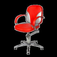 Парикмахерское кресло Валентина Люкс гидравлика хром, пятилучье хром на подпятниках