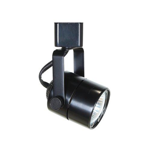 Круглый трековый светильник под лампу MR16 GU5.3 (черный)